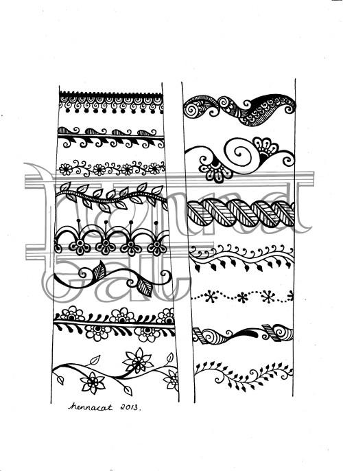 free flash from hennacat - henna style bracelets