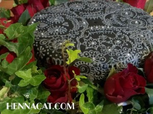 enna style gothic birthday cake by hennacat surrounded by red roses