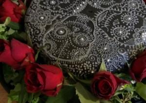 enna style gothic birthday cake by hennacat close up